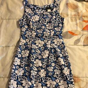 Blue and white reversible juniors mini dress :)